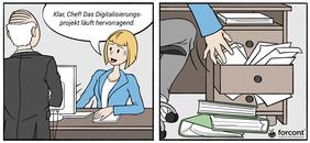 Comic, wie die Einführung einer HR-Software nicht laufen sollte